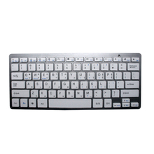 CE/FCC/ROHS Bluetooth keyboard Ultra-thin blue tooth keyboard 2.4G wireless 2*AAA battery for IOS/Windows/Android