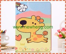 Cartoon character pattern stand laptop leather case For ipad air 2