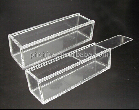 YKL-089 Rectangle Clear Acrylic Display Box With Slide Lid,Plexiglass Display Case With Lid,Cheap Plastic Storage Boxes