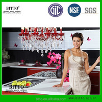 Kitchen Countertop Material Quartz Crystal Polar White Engineered Stone
