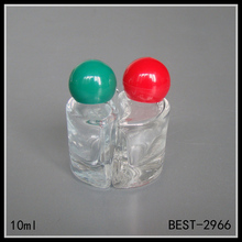 10ml mini perfume glass bottle two in one for sample perfume