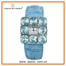 Assisi Colorful leather band Japan Movt 3ATM water resistant sapphire crystal watch