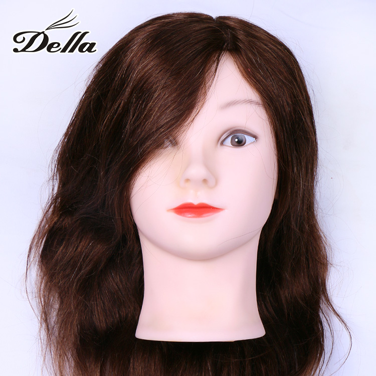100% human hair barber practice wig mannequin heads