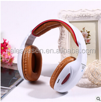 YSN-05L 2016 Newest stereo bluetooth headphone Protable Wireless Stereo Bluetooth Headphone With FM MP3 EQ TF Phone Colorful LED