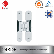 APLUS heavy duty 3 way adjustable concealed flush door hinges