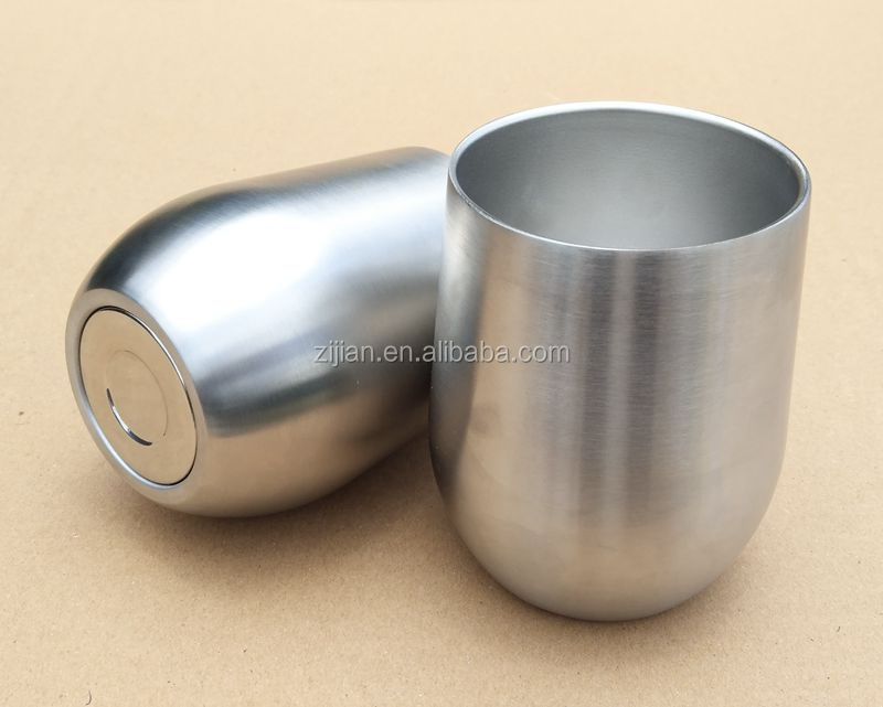 High Quality Stainless Steel Egg Shaped Wine Cup, Double Wall Vacuum Insulated Wine tumbler