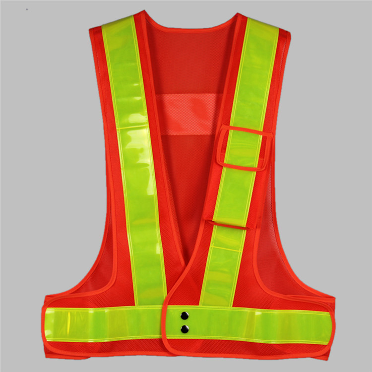Custom Long Life Safety Vest Red