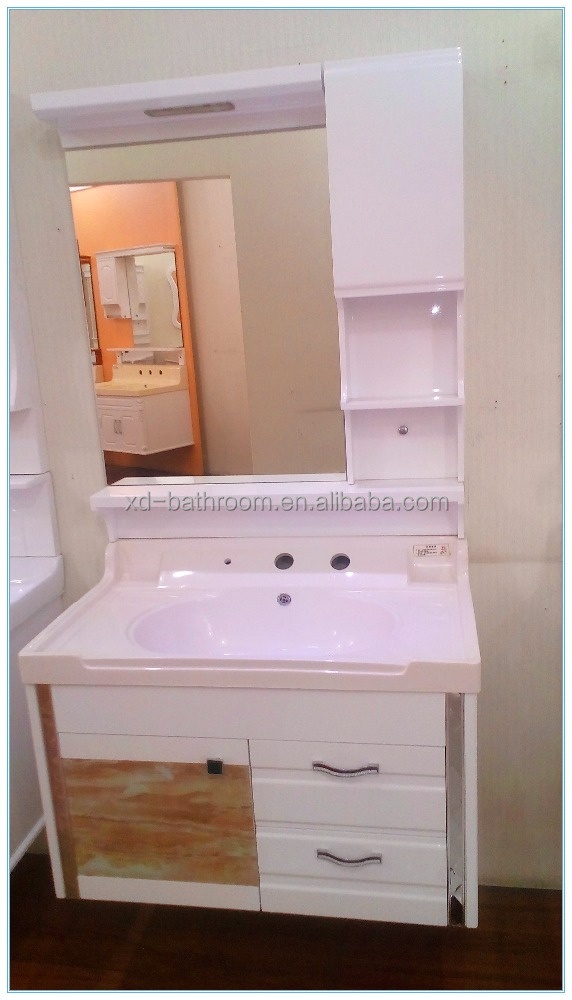 latest smart modern style hotel / home white bathroom vanity wall cabinet for wholesale