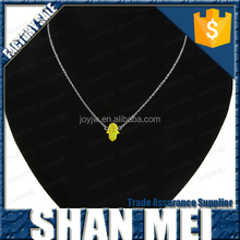 fashion stainless steel chain stone fluorescence color pendant necklace jewelry