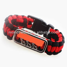Customized Bracelet Making Supplies Weave Alloy Paracord Amber Bracelets