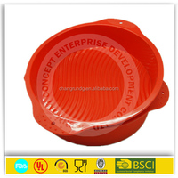 food grade material healthy 6 holes bear shape silicone cake mold
