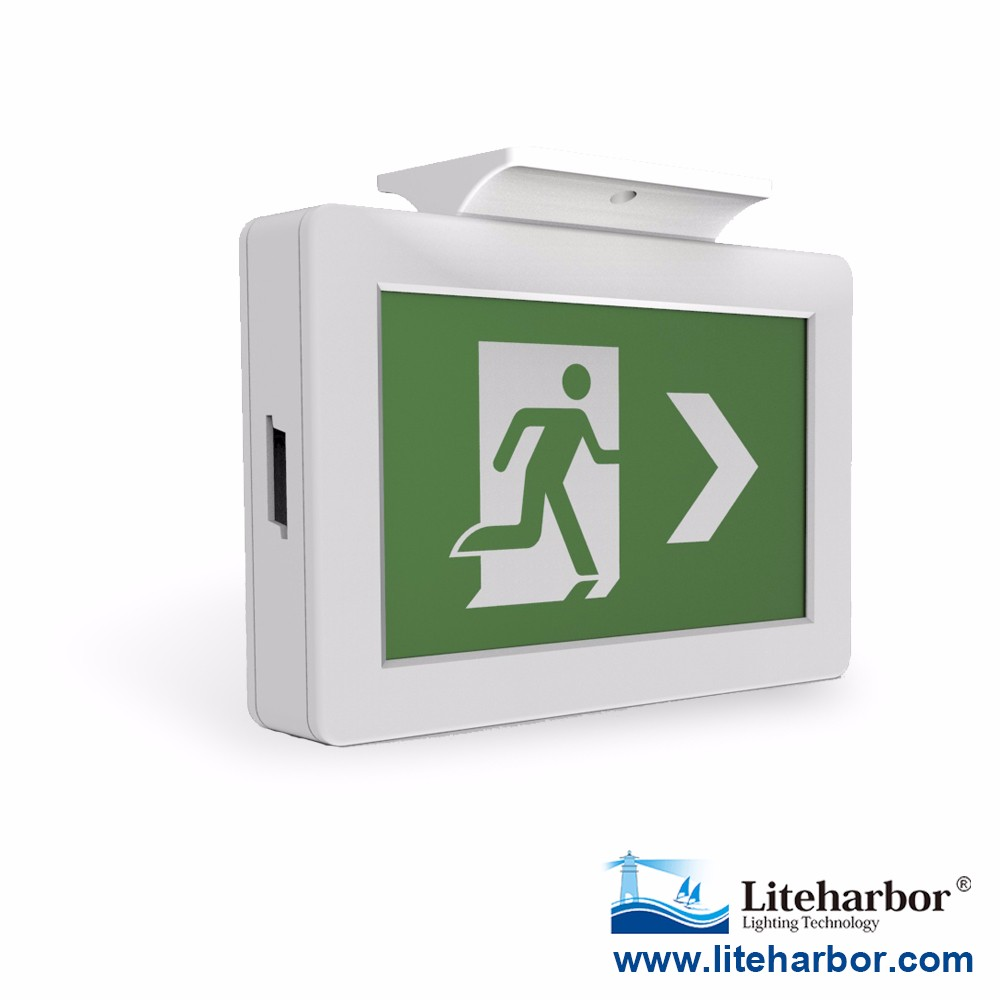 UL Listed 2W Wall Mount or Ceiling Mounted Emergency Double Sided LED Exit Sign