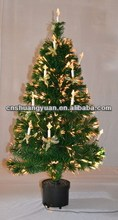 150cm Christmas Fiber Optical Tree with Ornaments