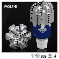 "WOLFNI IADC S424 API certified 8 1/2"" PDC drill bit for hdd and oil well"