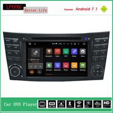 Android 7.1 HD 1024*600 Car DVD gps stereo for Mercedes Benz E Class W211 W209 W219 built-in 4G WIFI Radio audio av system 2G