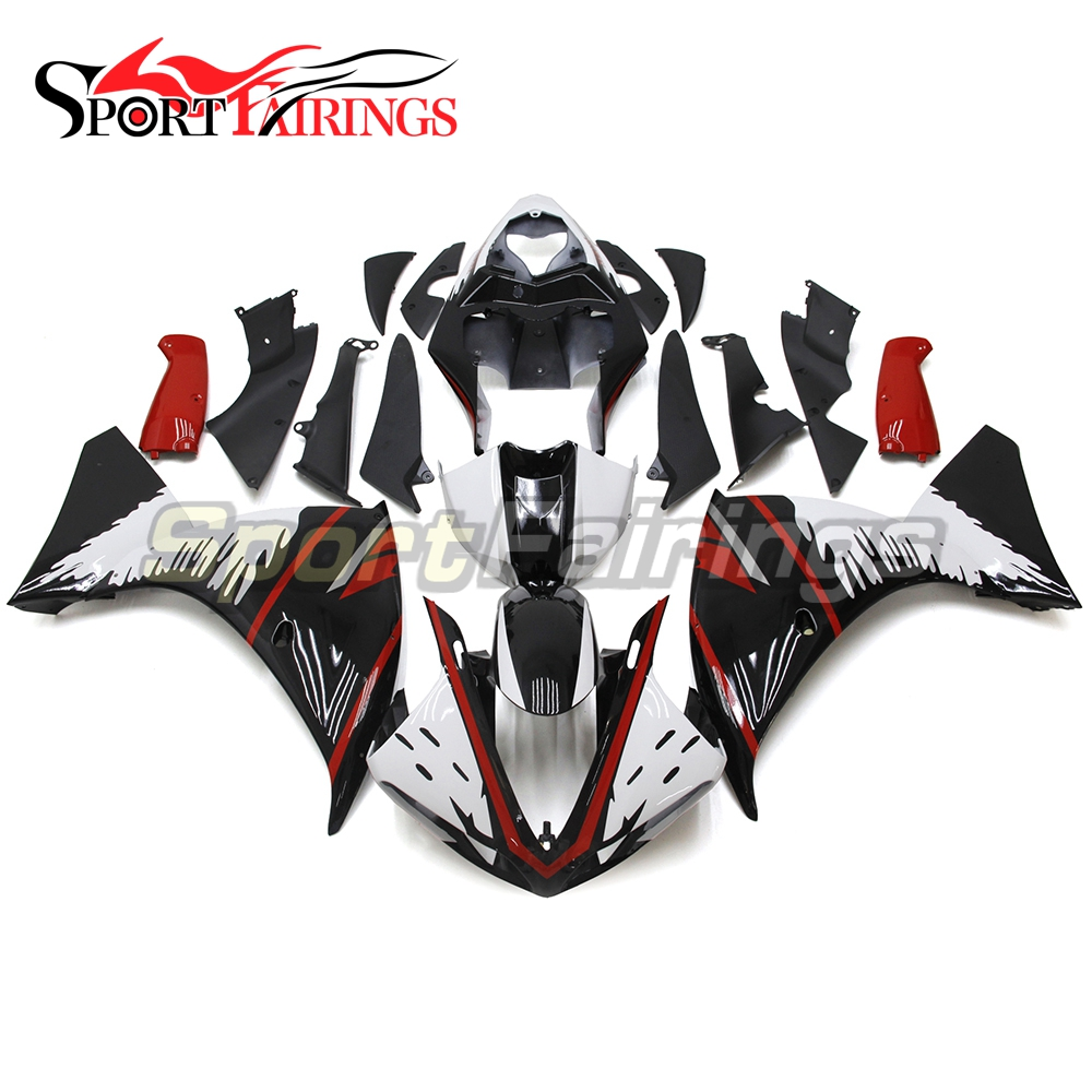Balck White Red Injection Fairings For Yamaha YZF 1000 <strong>R1</strong> 09 10 11 YZF-<strong>R1</strong> 2009 2010 <strong>2011</strong> ABS Plastic Complete Fairing Kit