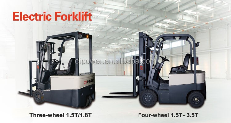 Electric forklift truck 1.5 ton-1.8 ton 3 wheels 4 wheels