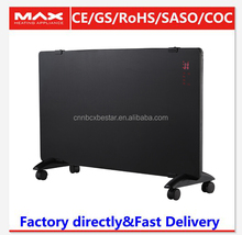 2000W waterproof glass panel convector heater with CE/Rosh certificate