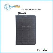 CE and Rohs approved 50w flexible solar panel with solar cells wholesale for residential on grid solar energy systems