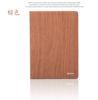 wood grain case cover for ipad 2 leather case /pu leather tablet pc case for ipad 2