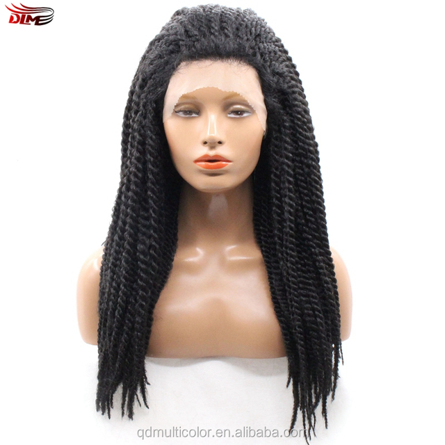 Alibaba express wholesale dreadlocks wig lace front wig brazilian hair lace front box braid wig for black women