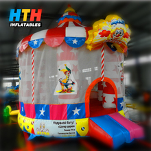PVC commercial circus inflatable bouncy castle for sale