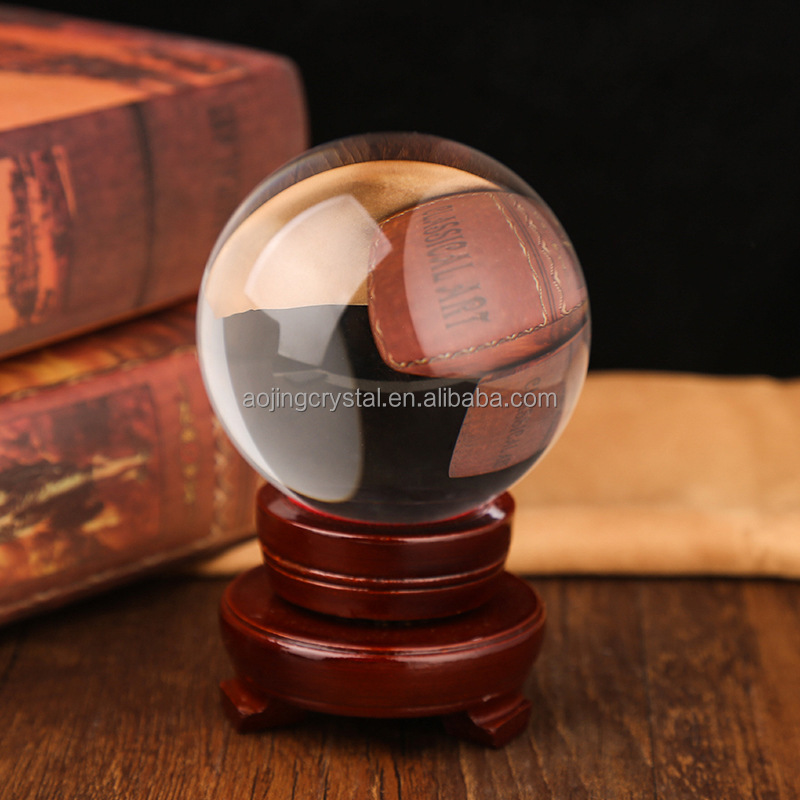 factory supplier personalized crystal ball for gifts&sports souvenir