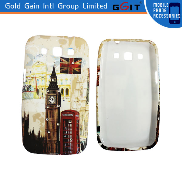 Diamond Water Transfer Printing Case For Samsung I8550,Water Printing Cover For Galaxy Win