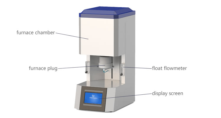 Laboratory use furnace soft metal sintering 1400 degree for dental argon