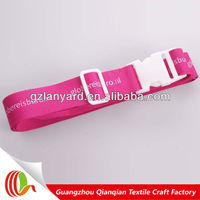 Custom letter printed logo design nylon password lock luggage belt