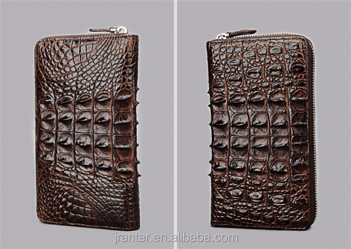Fashion Luxury Handmade Men Business Wallet Real Crocodile leather Clutch Wallet Men_7