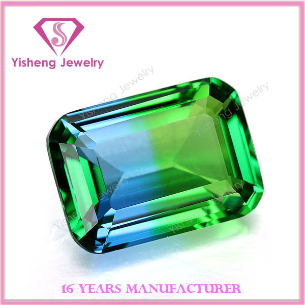 lab created emerald shape China synthetic multicolor glass gems for sale
