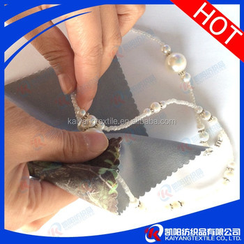 High quality suede polishing cloth for jewelry