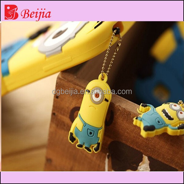 Minions despicable me rubbet mobile phone dust plug for video games boy