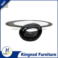 ct-022 living room furniture 2015 cheap elegant fancy Modern design fiber glass coffee table for sale
