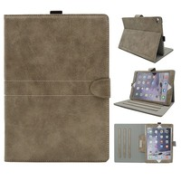 Frost PU Leather Cover 7.9 Inch Tablet PC Case Book Style Protective Stand Cover with Pen Holder for Ipad