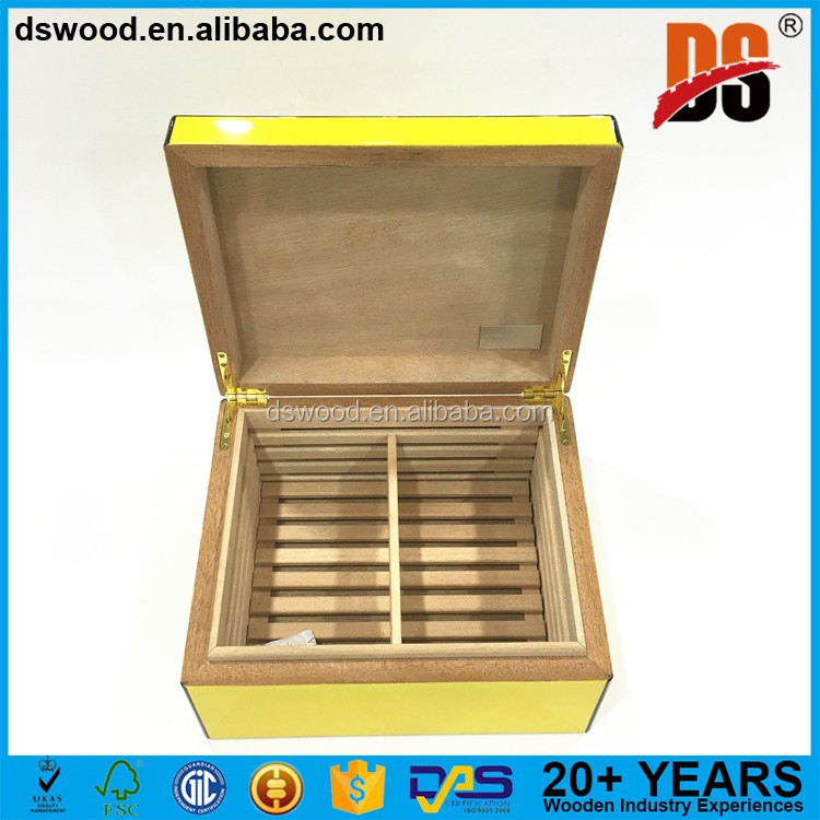 Sapele Wood Material Luxury Cigar Box For Cigar Storage