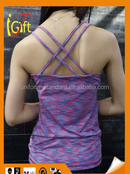 New design high quality factory price HOT SALE cheap womens sexy yoga top