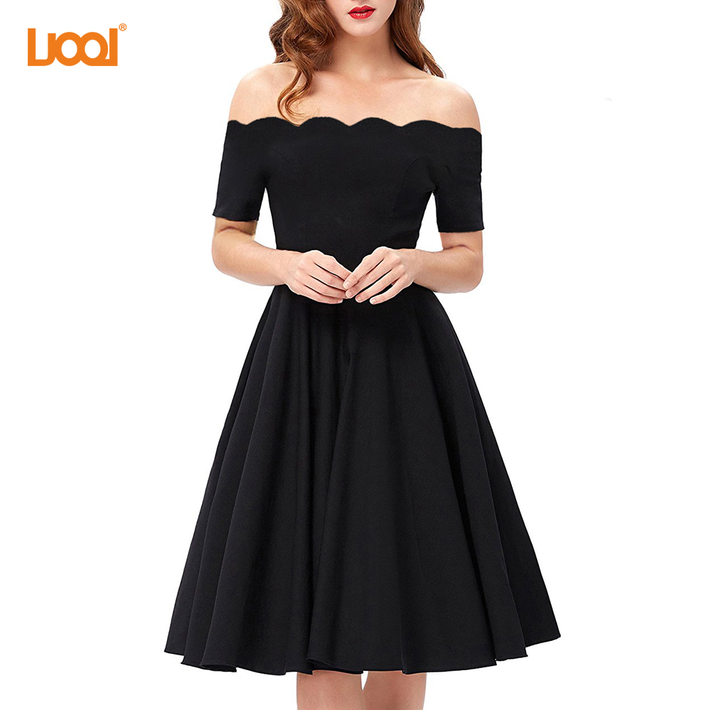 High Quality Young Girl Black Off <strong>Shoulder</strong> Plus Size Sexy Summer Dress For Date
