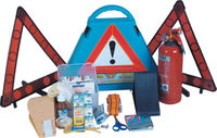 Eagle Full Plastic Triangular Lux Car Emergency kit with 1kg Fire Extinguisher and 2pcs Warning Triangle