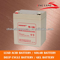 High quality AGM rechargeable lead acid battery 12V 5AH for ups solar system
