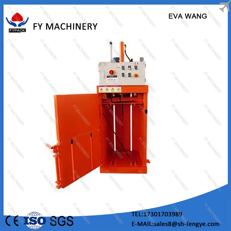 Mini sawdust grass hay baler machine for used clothing/waste cotton