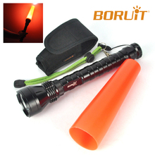 aibaba com Hot Sale rechargeable High Power 5000lumen torch light Red Traffic Corn type 515