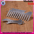 Antique die casting card shape sport game bottle opener