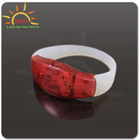 Vibration Control Led Flashing Silicone Bracelet Wristband For Christmas Party