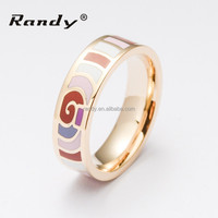 Top Quality Fashion Design Hot Sale Gold Ring With Enamal
