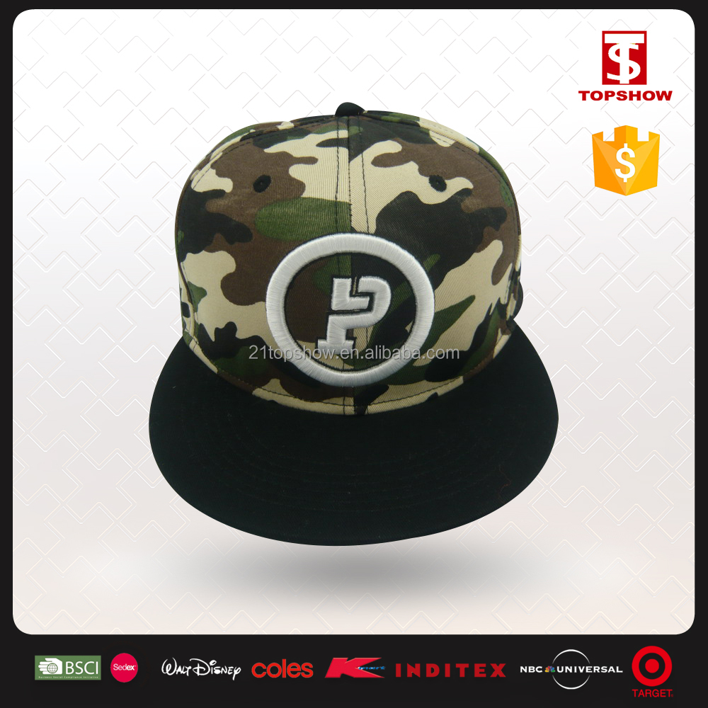 3D Logo 100% Cotton Custom Snapback Plain Cap/Embroidery Hat