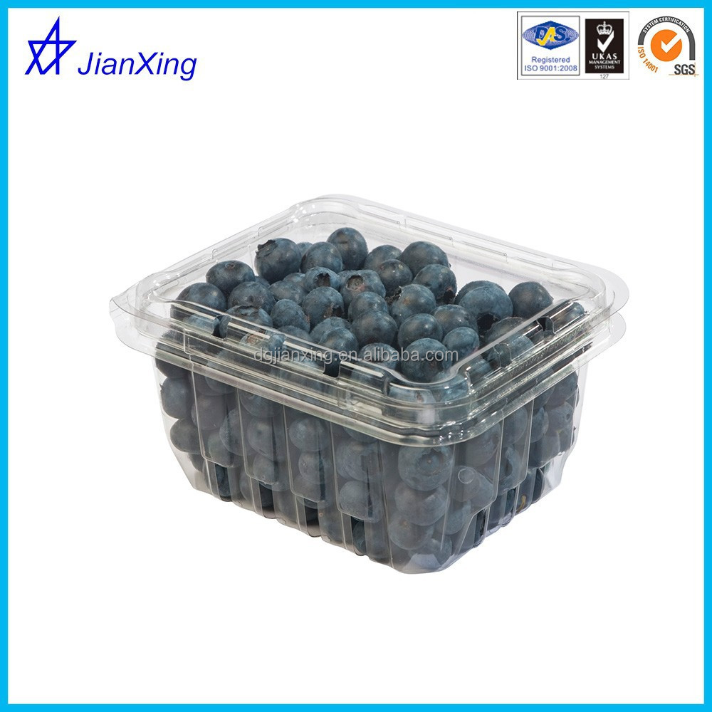 Hot sale clamshell plastic blueberry containers