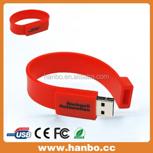 Promotional PVC gift bracelet usb flash drive wholesale cheap usb flash drive 8gb