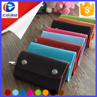 PU Leather Car Keychain Key Holder Bag Case Wallet Cover